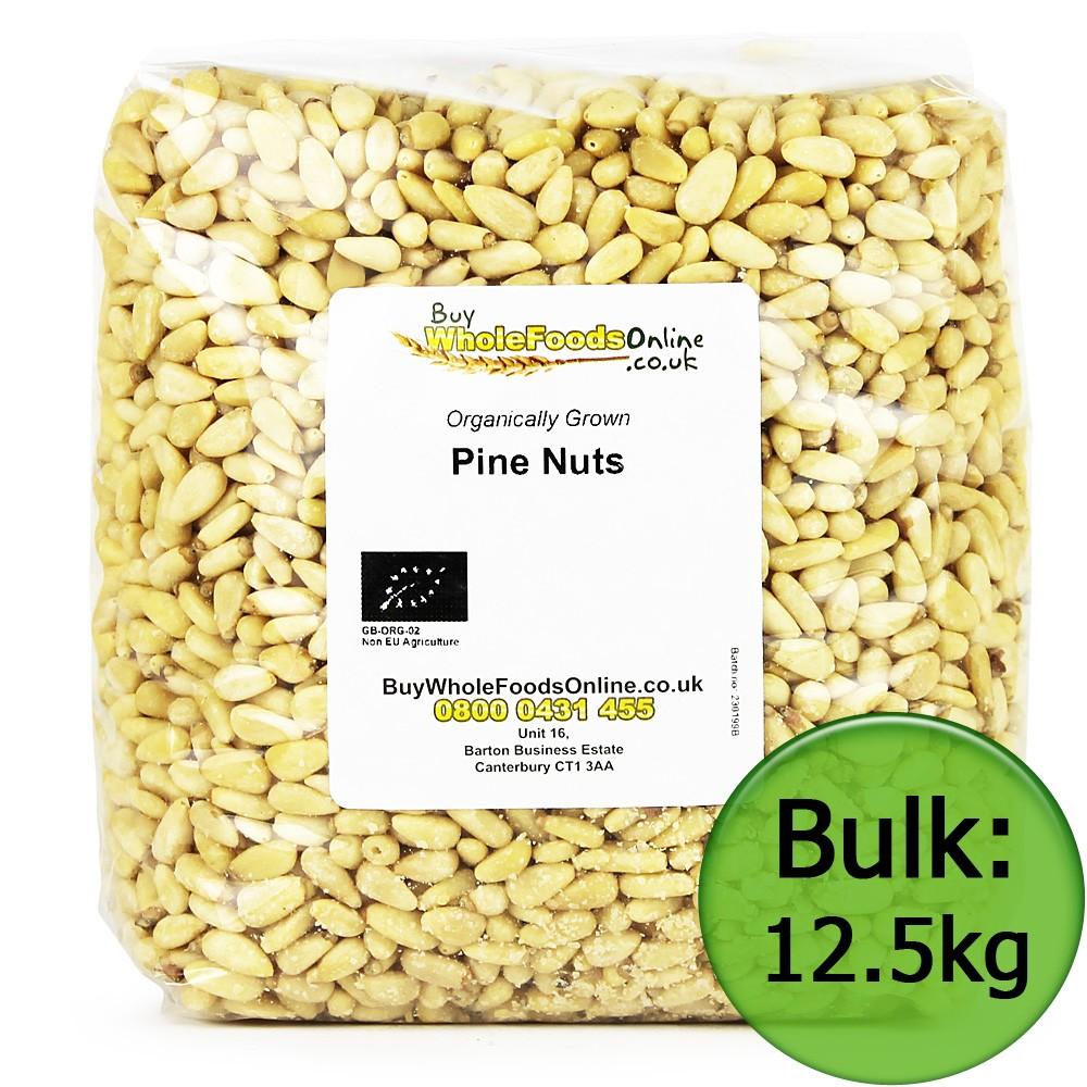 Organic Pine Nuts from China. They are frequently added to meat, fish, salads and vegetable dishes o